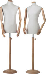 Classical torso form with articulated arms showcase