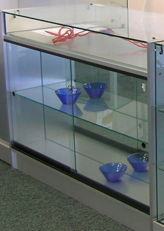ALUMINIUM COUNTER CABINET WITH PULL-OUT DRAWER